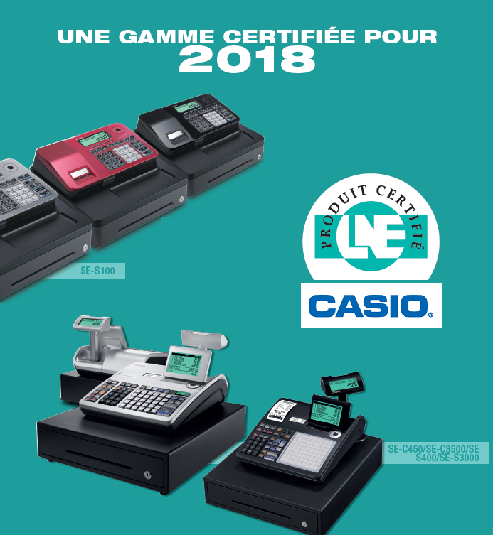 caisses enregistreuses casio certifiees lne 2018